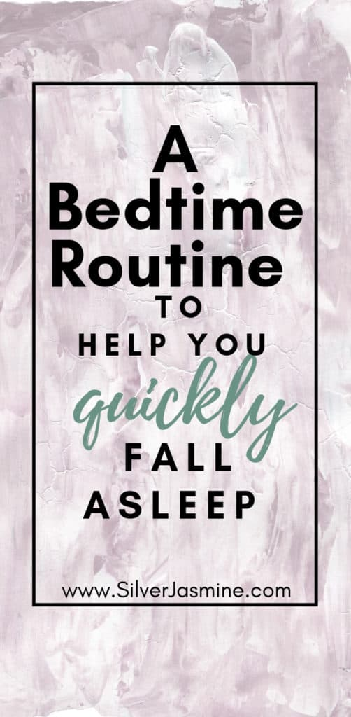 Creating a bedtime routine can help slow your anxious mind down enough to fall asleep quicker and easier. Here is my nighttime routine to help me fall asleep. | Adult Bedtime Routine #bedtime #bedtimeroutineforadult #nighttimeroutineforadult