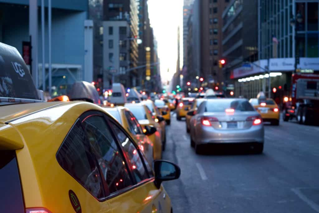 taxi city traffic