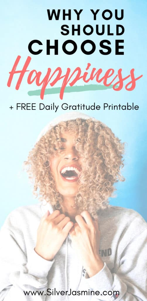 """Getting lost in the grind of life, we can sometimes forget to recognize the little things that bring us happiness. It is up to you to make the choice to look past the negative thinking.  Get your FREE """"My Daily Gratitude"""" printable worksheet! #happiness #happy #positivity #positivethinking"""