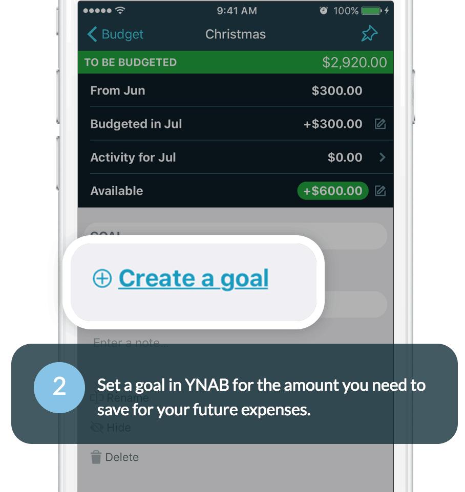 YNAB Goals