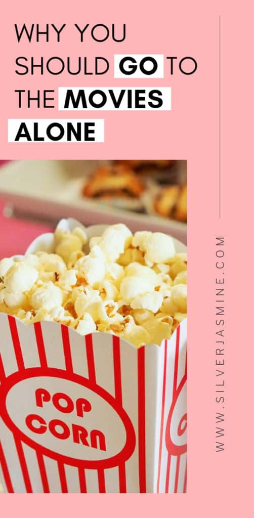 Going to the movies alone is something I do often as an introvert.  Here's why you should enjoy your own company and go to the movies by yourself, too! #moviesbymyself #introvertalonetime #introvertalone #introvert