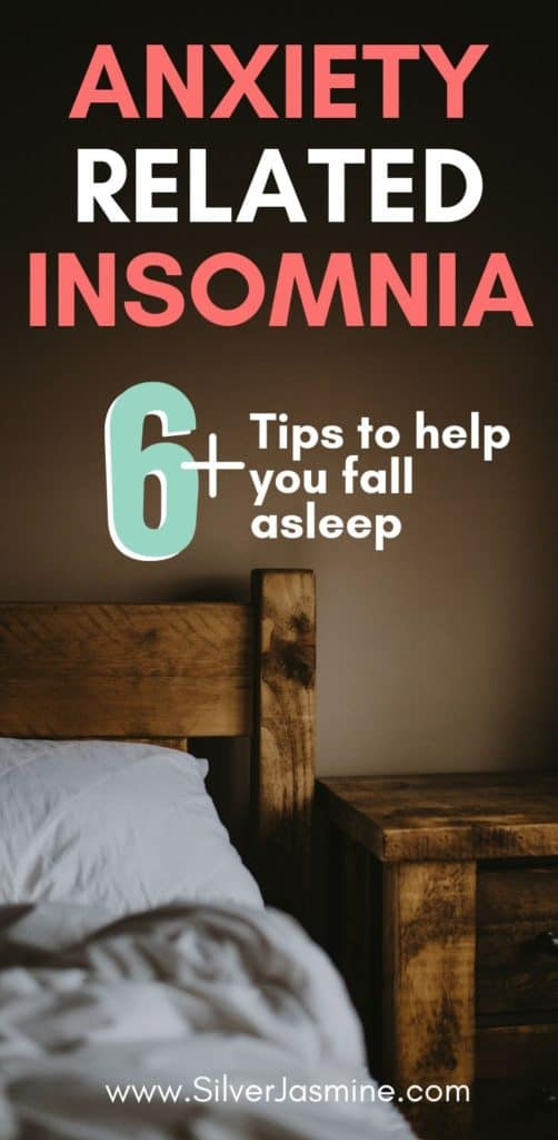 How frustrating is it to finally get in bed for the night, but then can't fall asleep?! Tossing and turning as anxiety and insomnia get the best of you. Here are 6+ remedies you can do when you can't fall asleep due to anxiety-related insomnia. #sleep #anxiety #Cantsleep #insomnia #cantfallasleepremedies