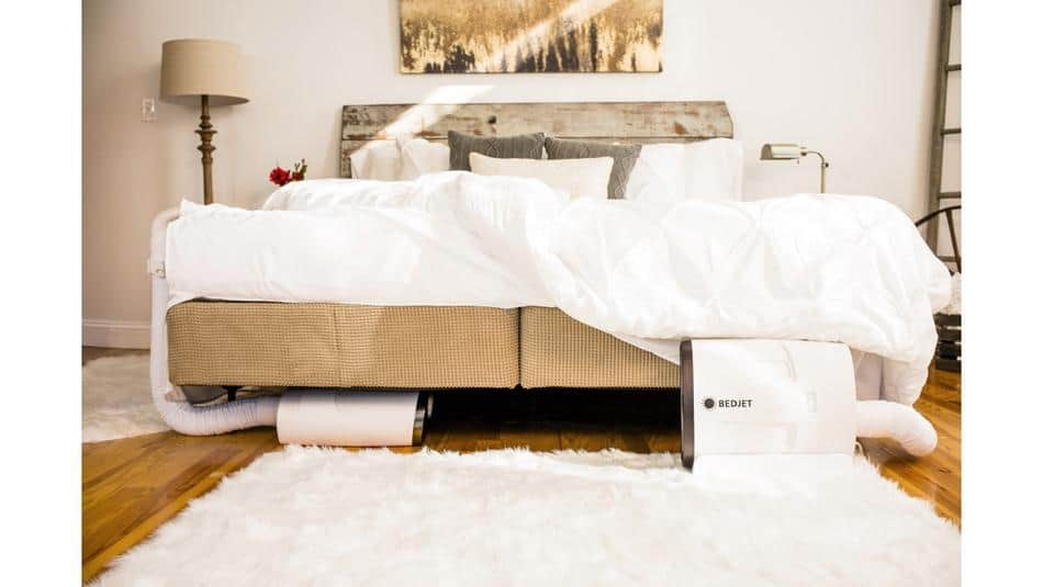 2 bedjets under a bed