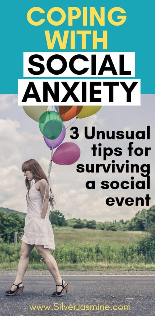 Here are 3 funny hacks on coping with social anxiety when you're headed to a social event, such as a party. Social anxiety tips, Overcoming social anxiety, Dealing with social anxiety as an introvert #Introvert #SocialAnxiety