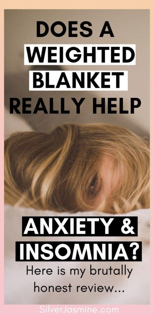 I wonder if adult weighted blankets for sleep and anxiety is just the latest 'cure-all' for us anxious folk.  So I tried to use a weighted blanket for my anxiety & insomnia: Here is my brutally honest review. #weightedblanket weighted blanket reviews, cooling weighted blanket, weighted blanket for restless leg, weighted blanket benefits
