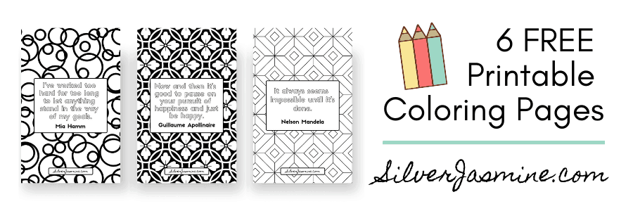 6 Free printable coloring pages banner